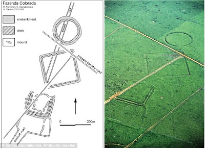 Geoglyph, geoglyphs, brazil, amazon, ancient man, ancient flight