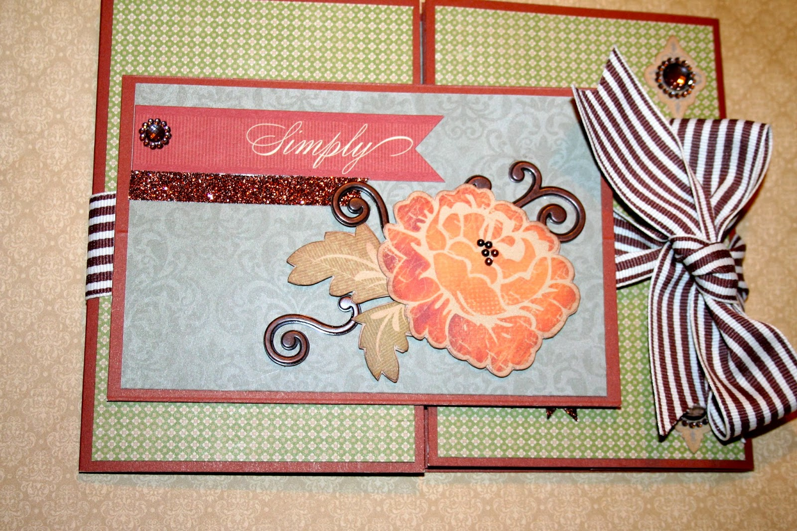 The happy scrapbooker huntington tri shutter mini album for Huntington card designs