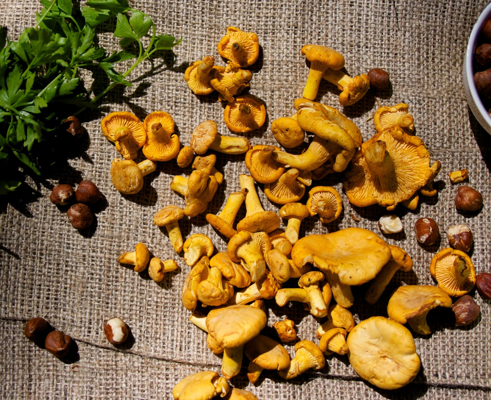 Chanterelles with Napa and Nuts: simplelivingeating.com
