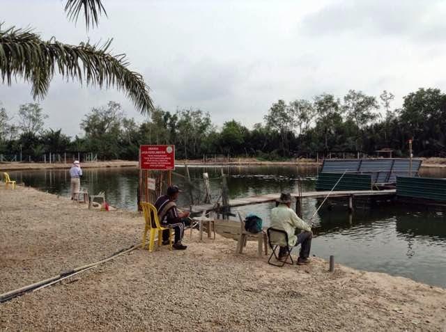 suasana kolam memancing
