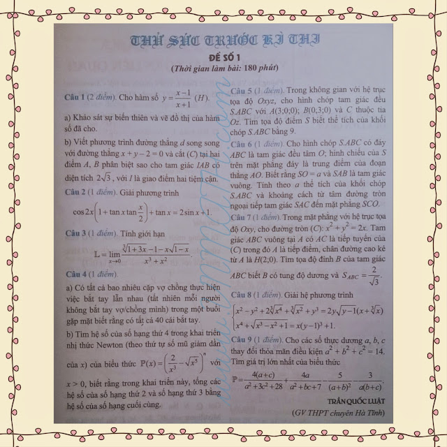 Tạp chí Toán học Tuổi trẻ số 448 tháng 10 năm 2014
