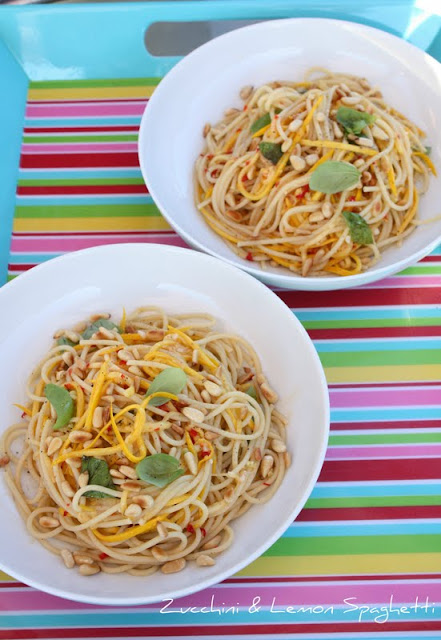 zucchini and lemon spaghetti