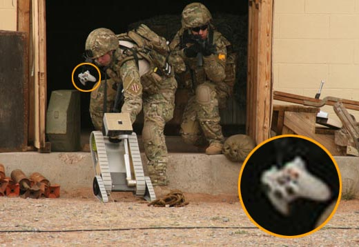 us army robot with xbox controller