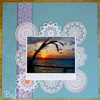 Sunrise Scrapbook Page
