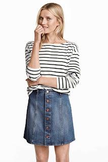 minifalda vaquera botones