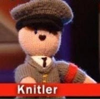 toy knitted hitler funny
