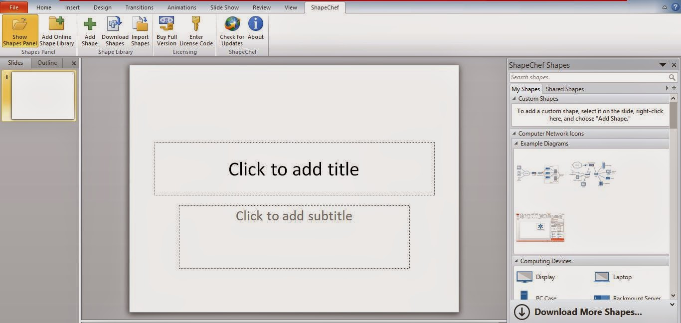 Tutorial on How to Use ShapeChef- An Add on for Powerpoint Presentation