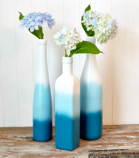 Paint It Bright Blue Home Decor Ideas From Bottles To