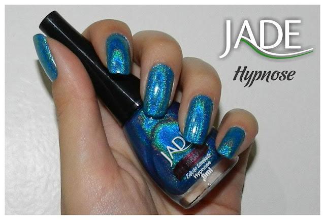 esmalte holográfico jade cosméticos, hypsnose, swatch