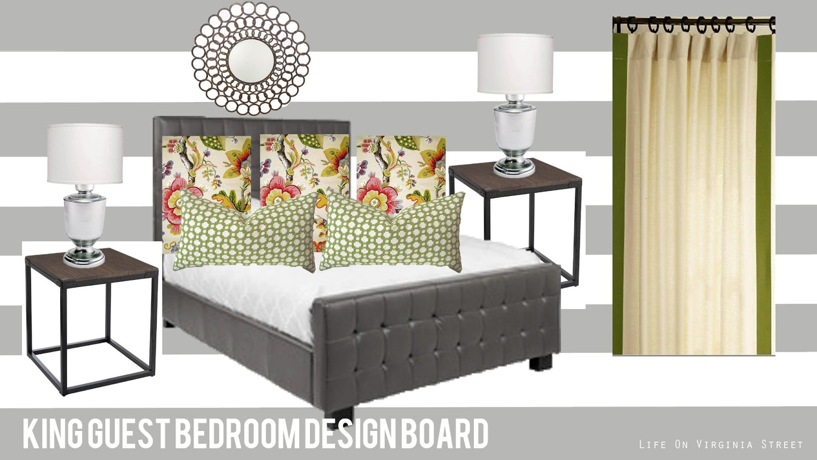 King Guest Bedroom Design Board | Life On Virginia Street