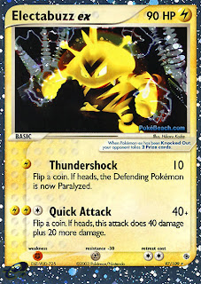 Electabuzz ex EX Ruby and Sapphire Pokemon Card