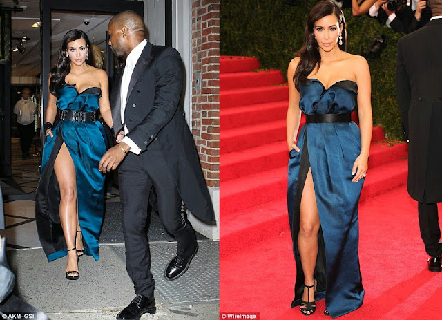 Spot the Difference with Kim Kardashian's Met look.