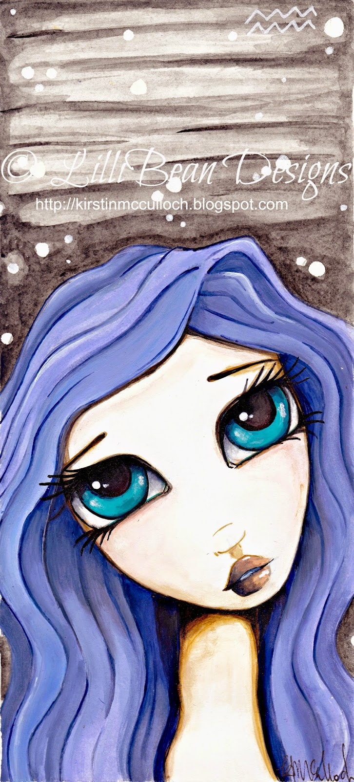 AQUARIUS an original painting by LilliBean Designs © Kirstin McCulloch 2015