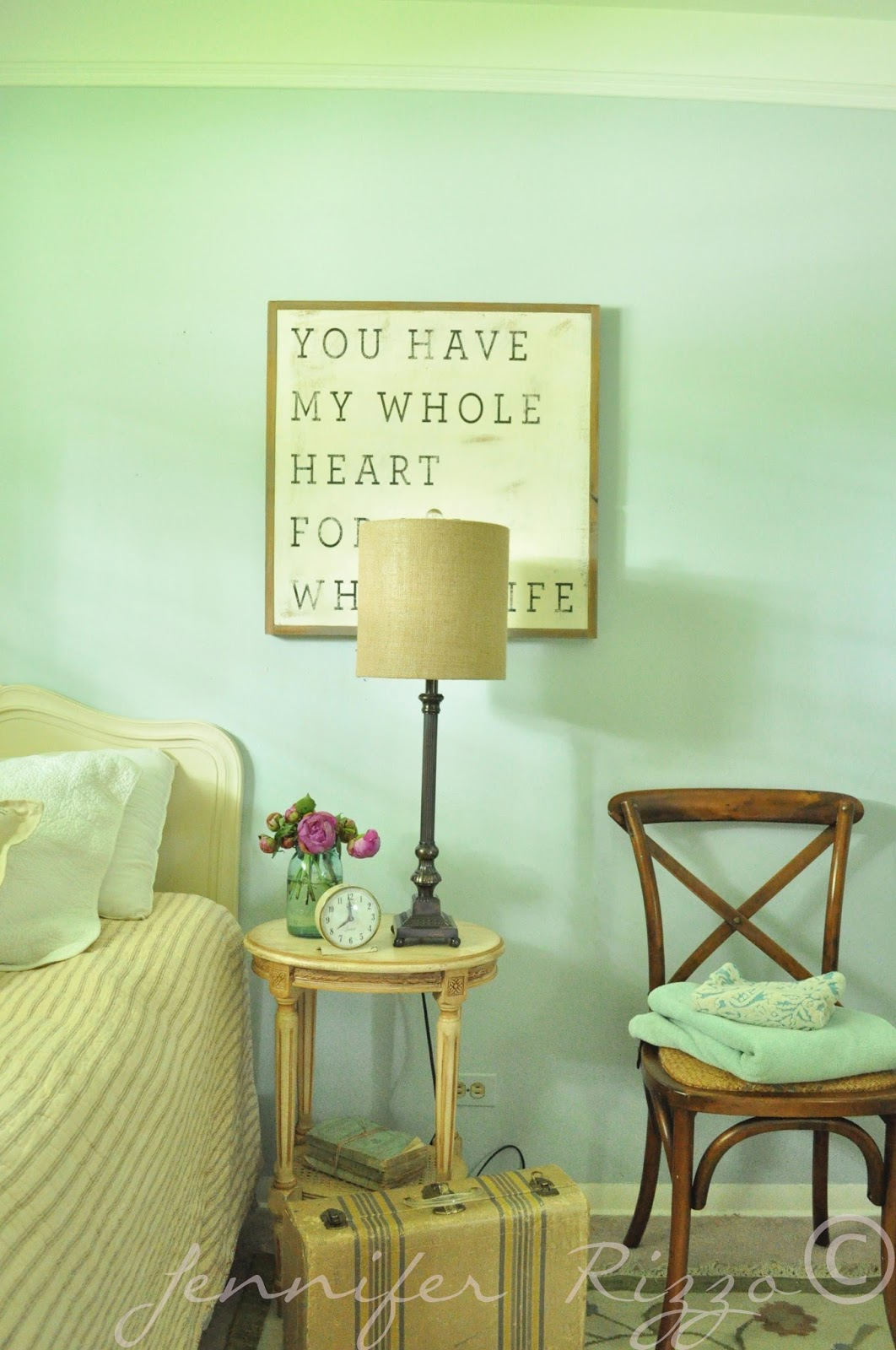 Restful guest retreat makeover.... One room, three different ways ...