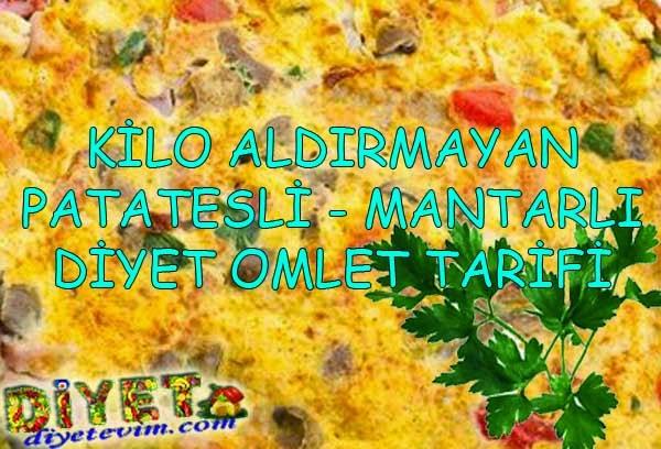 diyet omlet tarifi