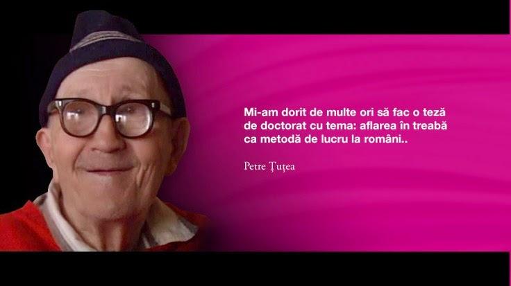 Petre Tutea, citat despre aflarea in treaba la romani