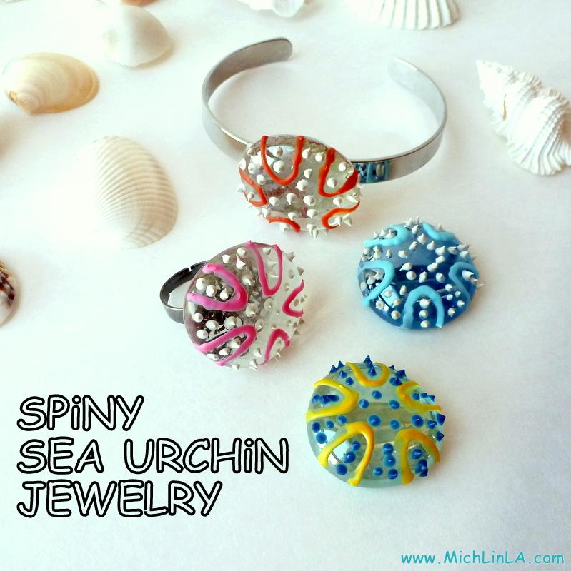 Mich L. in L.A.Handpainted Glass Sea Urchins