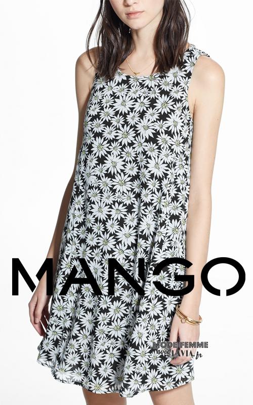 Robe courte à fleurs Mango