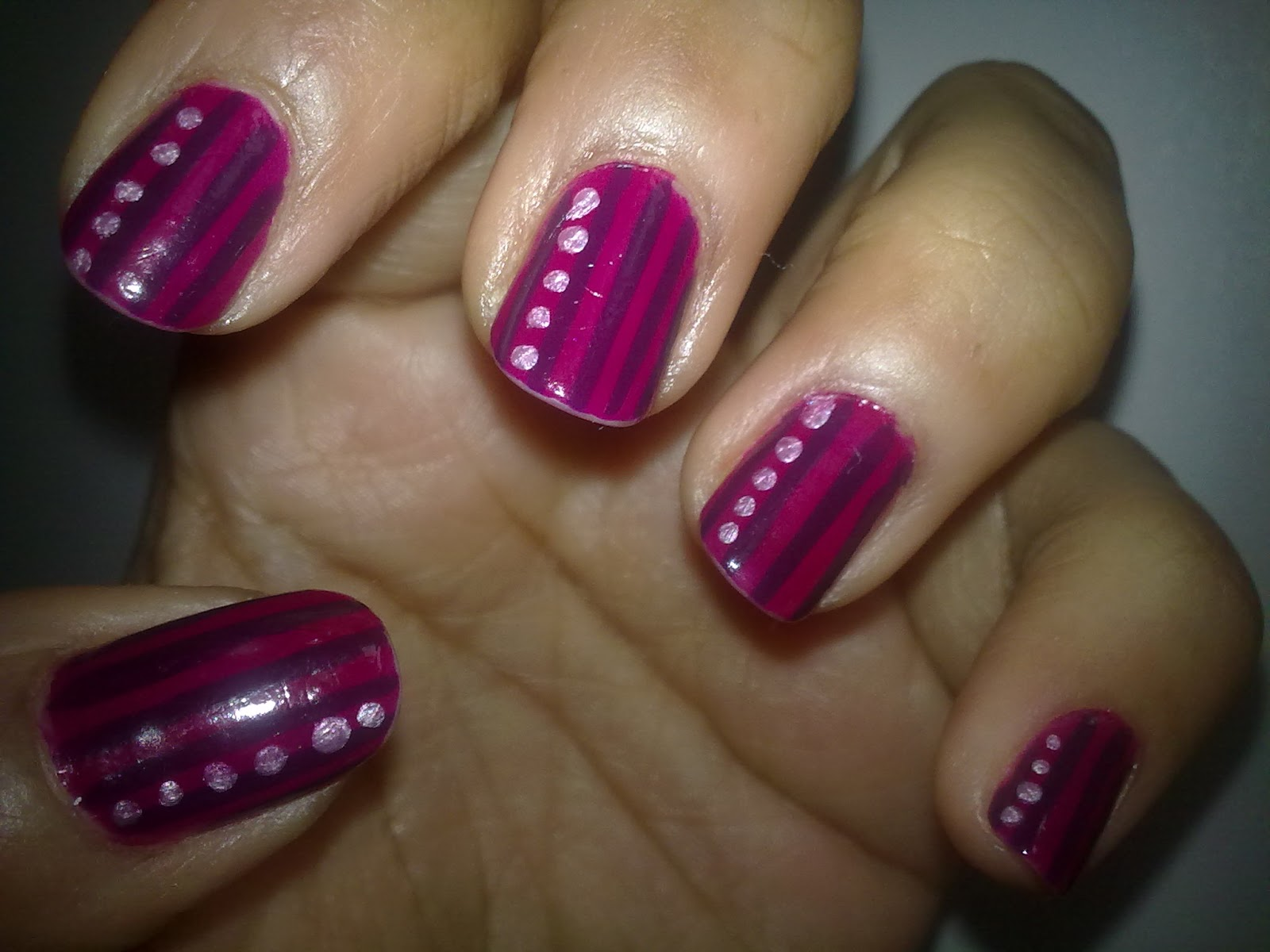 love for nail art stripes and dots nail art