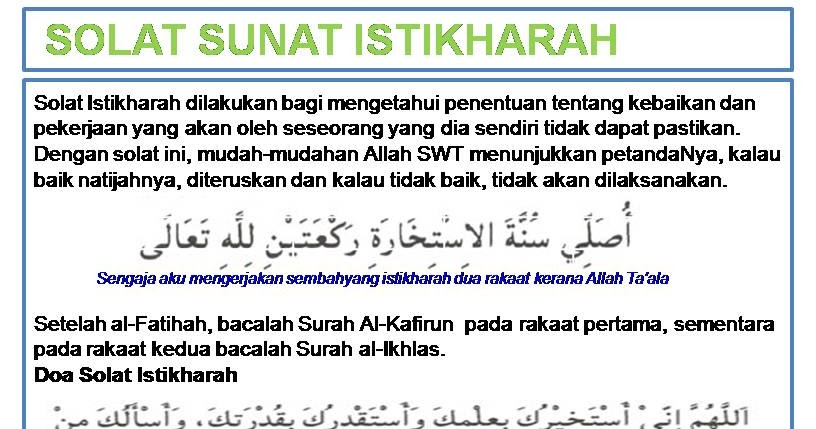 Image result for Solat Istikharah