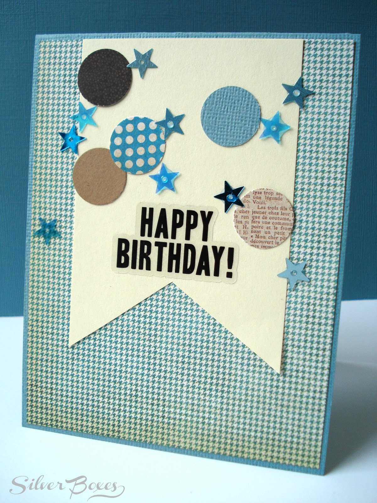 Silver Boxes Confetti Birthday Cards