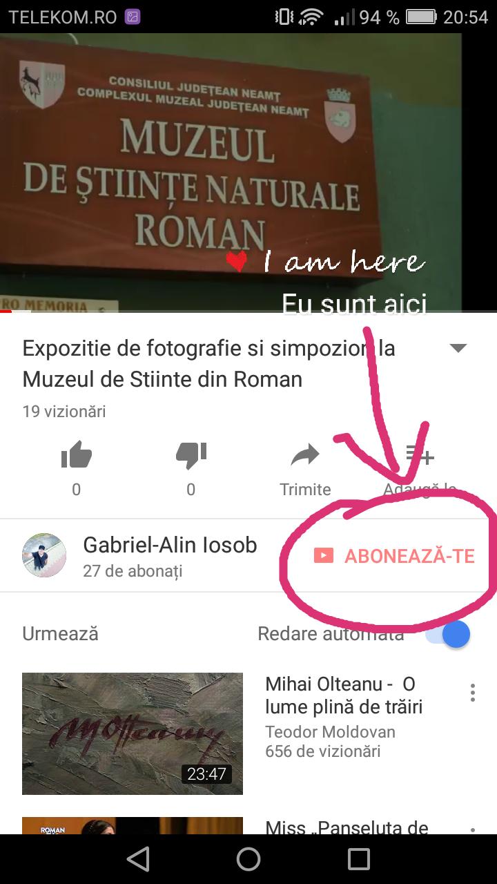 Acum ma gasiti pe YouTube (abonati-va la canal!)