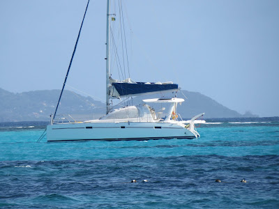 Paul Bennett and family sailing in the Caribbean