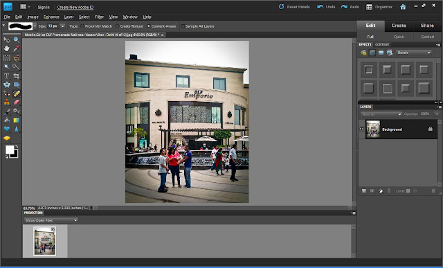 Where is Content Aware Fill tool in Adobe Photoshop Elements? : Recently one of my friend called me and told about a tool called