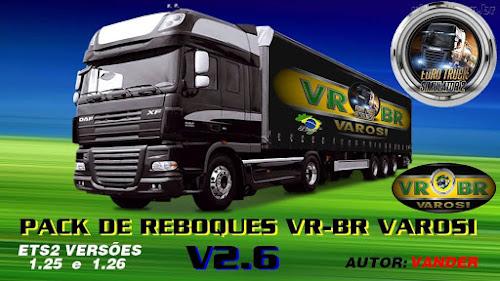 ETS2 Reboque - Super Pack de Reboques Brasileiros V.2.6 Para V.1.26.X By: Vander