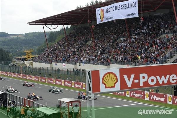 Greenpeace Mempermalukan Shell di Formula 1