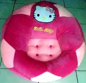 PUSAT GROSIR SOFA BOLA HELLO KITTY PINK