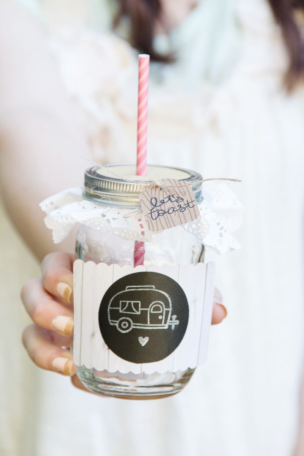 Party Mason Drinking Jars @craftsavvy @createoften #masonjars #diy