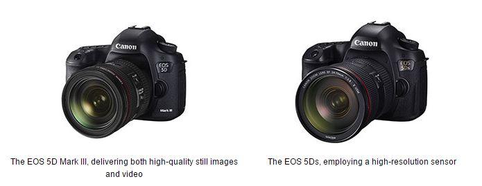 Canon EOS 5D Mark III Canon EOS 5Ds Canon EOS 5D Series Celebrates 10 Year Anniversary