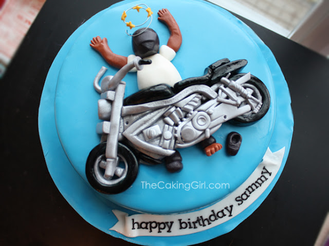 motorcycle accident cake