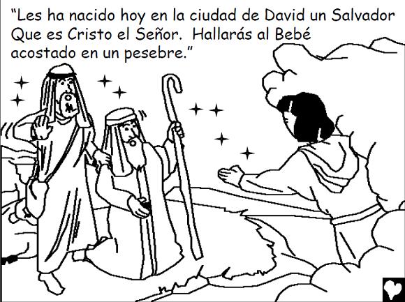 Historia bíblica del Nacimiento de Jesús para colorear ~ RECURSOS ...