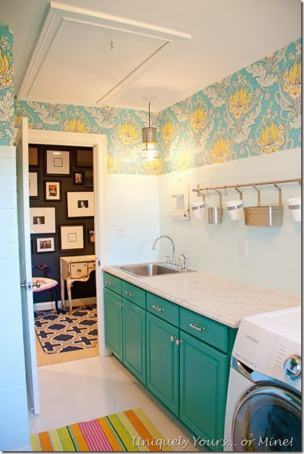 10 COLORFUL Before and After Features , Laundry Room Reveal