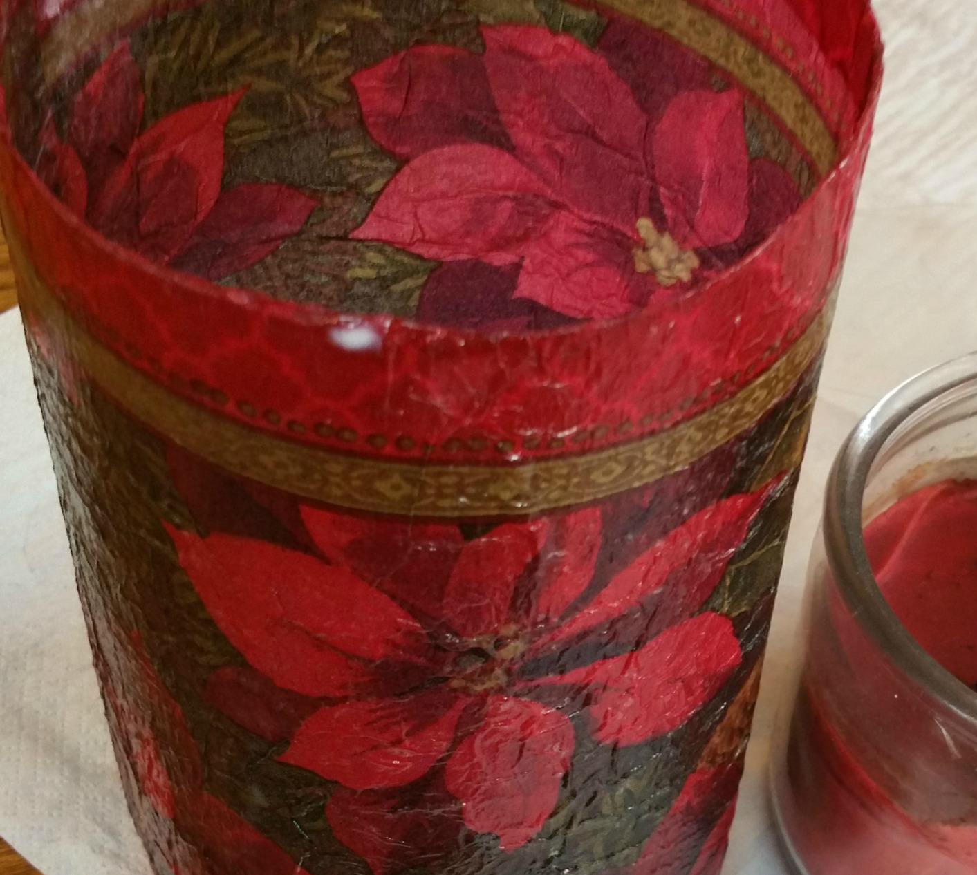 christmas candle sleeve from a soda bottle redo it yourself