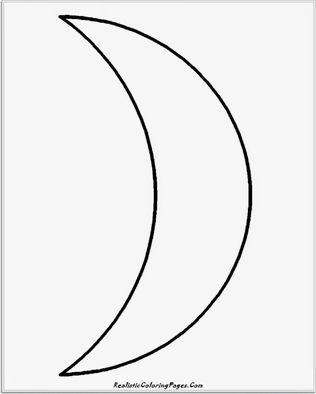 simple moon coloring pages