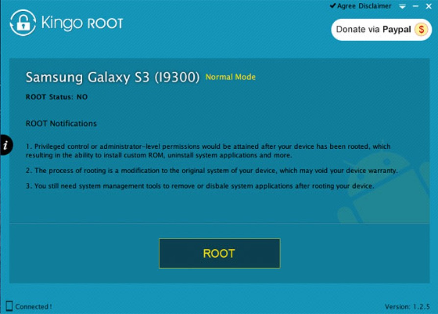 kingo android root initializing device