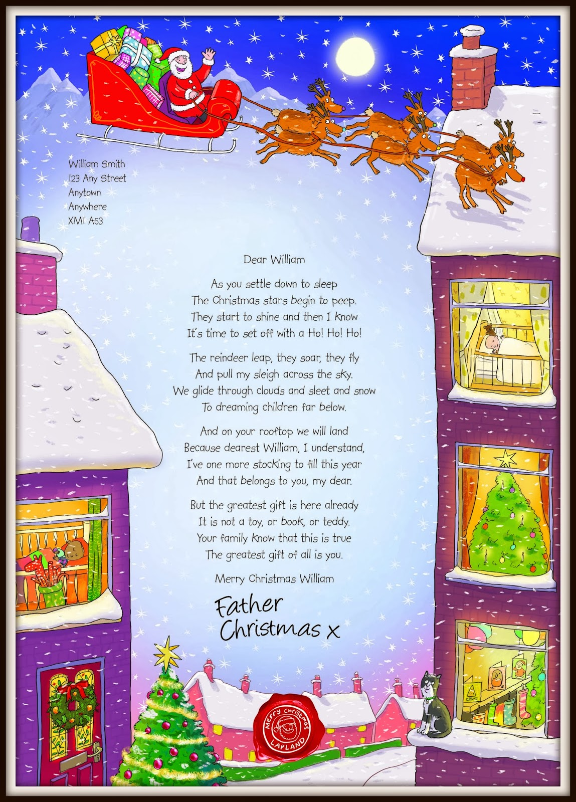 Santa Letter Template 2013 His letter from santa and