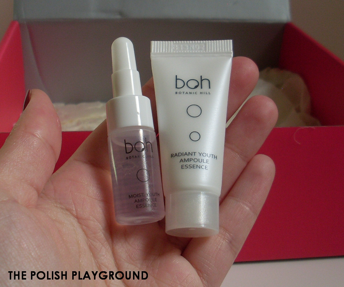 Memebox #9 Unboxing - Botanic Hill Boh Moist & Radiant Youth Ampoule Essence