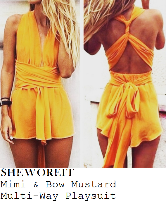 chloe-sims-mustard-yellow-sleeveless-plunge-front-halterneck-playsuit-towie-marbs