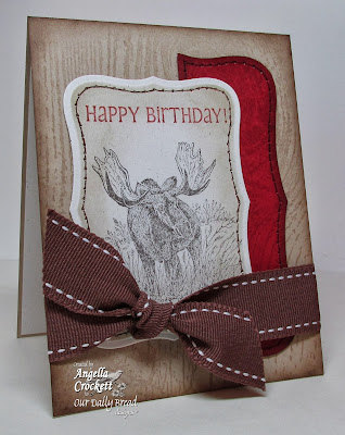 ODBD Father's Day (moose), Little Boys (sentiment) and Wood Background Card Designer Angie Crockett