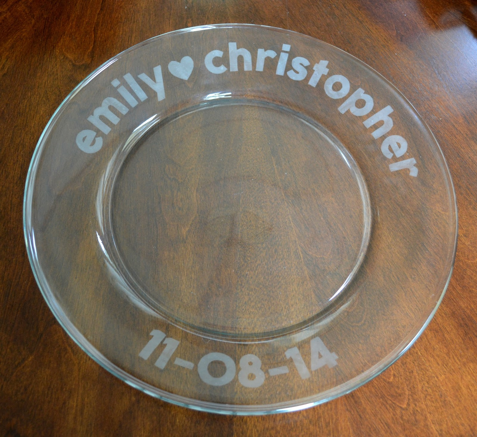 cozy birdhouse | glass etching, bridal shower platter