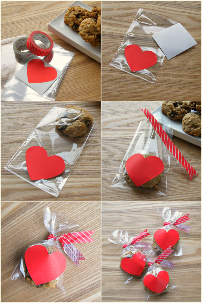 valentine treat bags - Homemade Valentine Treats
