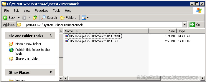 iis backup restore