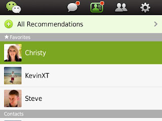 WeChat v2.5 for BlackBerry