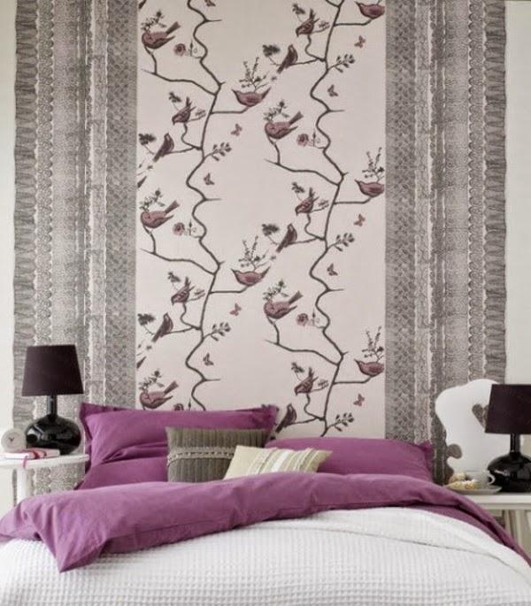 Dormitorios en morado y gris - Dormitorios colores y estilos