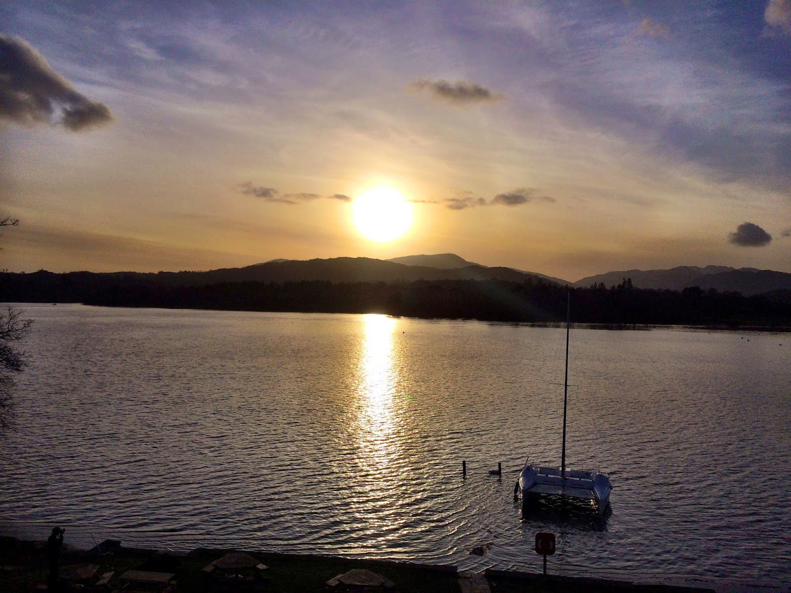 Sunset over Windermere from Ambleside - March 2014