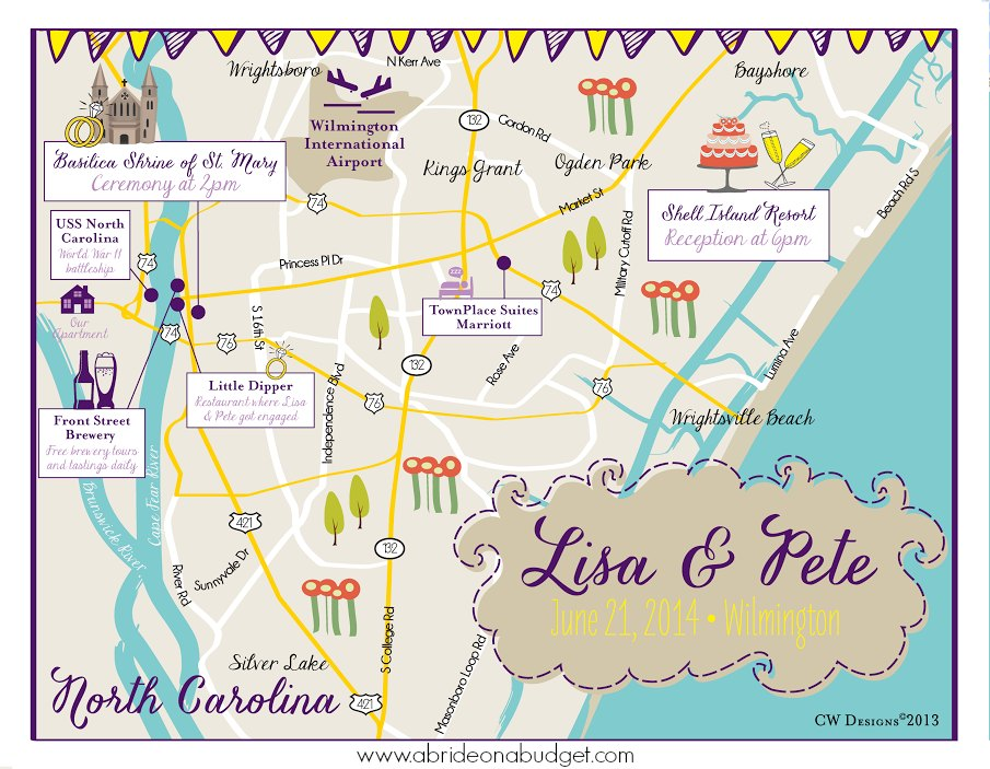 Do You Need A Wedding Map? | A Bride On A Budget